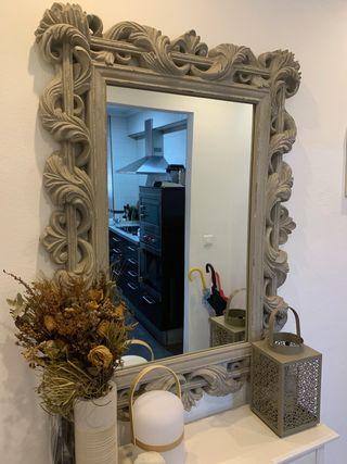 Espejo labrado