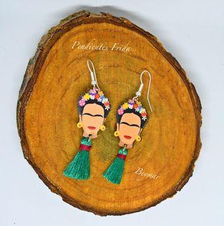 Pendientes Frida en madera