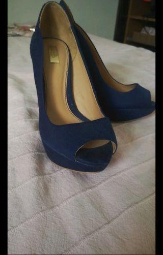 5 Marinode Stradivarius Por Tacón Segunda Zapato Azul Mano Zlqsvpgum rdChQts