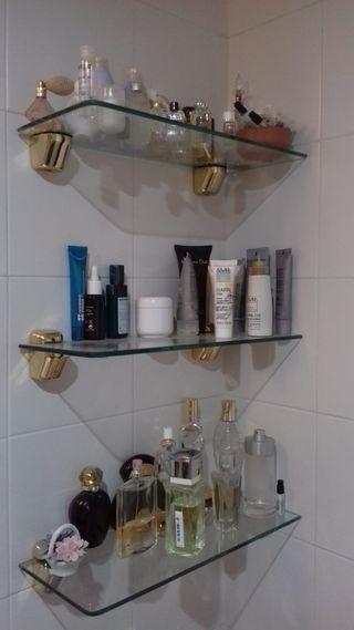 espejo baño y repisas