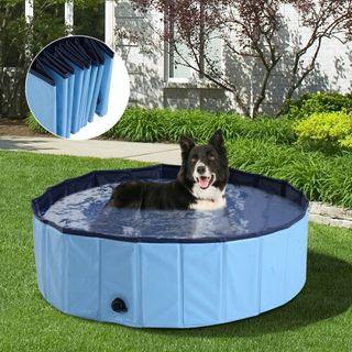 Piscina o Bañera para Perros y Gatos Azul PVC 100