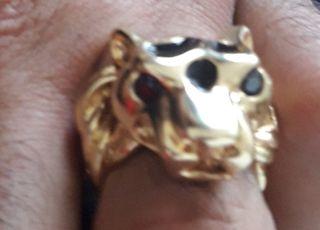 anillo oro hombre sello grande
