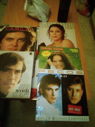 LP discos de pizarra de varios cantantes