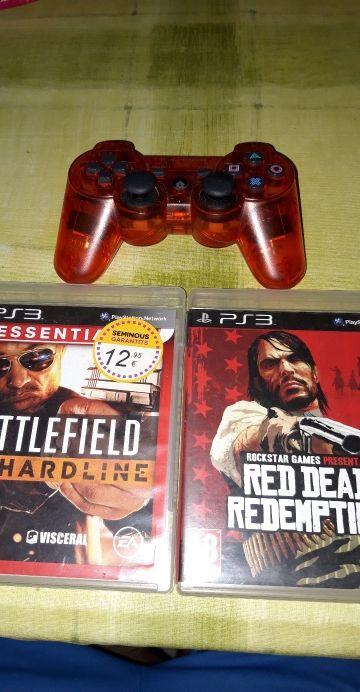 Dos juegos ps3 + mando