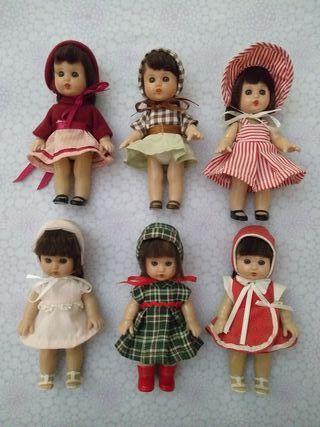 colección 6 muñecas MARIQUITA PÉREZ. 14 cm
