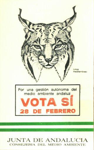 Pegatina año 1980 Referéndum Andalucía 28 febrero