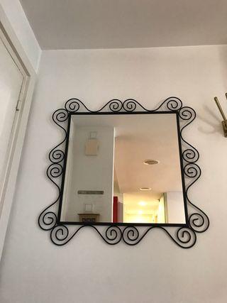 Espejo marco de metal