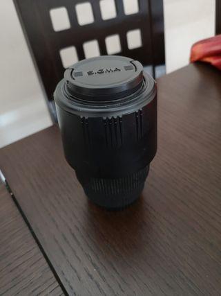 objetivo sigma 70-300 con filtro UV, en perfecto.