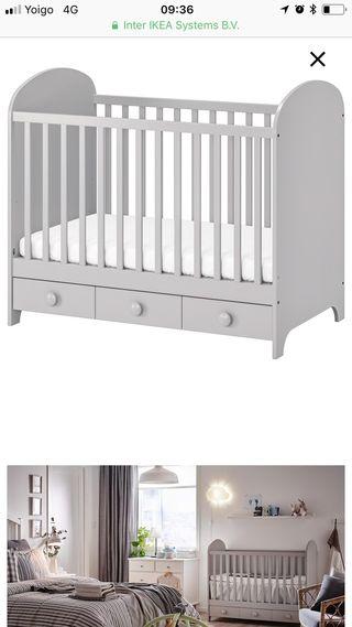 Cuna Ikea Gonatt + colchón
