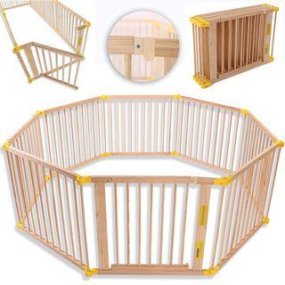 Parque de bebé plegable de madera (valla)