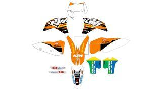 PEGATINAS KTM 2008,2009,2010 Y 2011