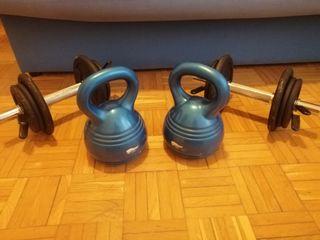 Set de mancuernas + kettlebell