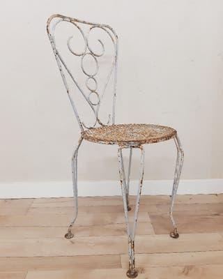 silla de forja antigua