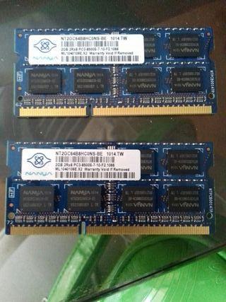 Memoria ram sodimm PC3 2gb