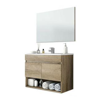Mueble de baño, módulo para lavabo, 2 puertas con