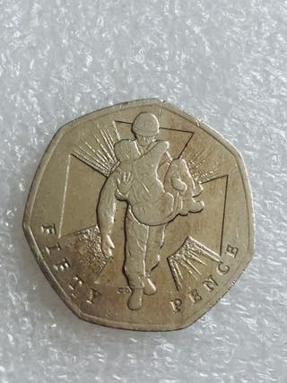 50p coin heroic act man 2006.