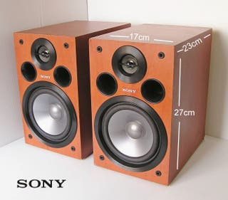 Sony pareja altavoces mueble madera 2 vias reflex