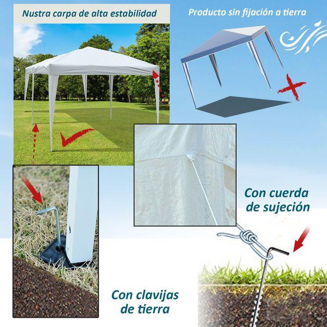 Carpa Gazebo para Terraza o Jardín - Color Blanco