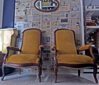 Par de sillones voltaire antiguos