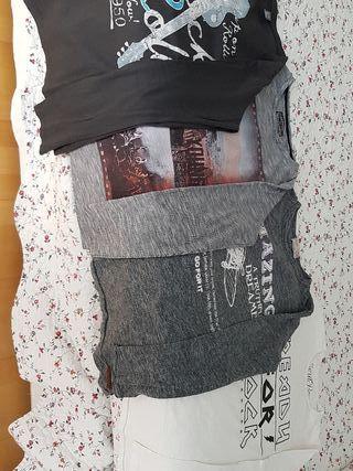 4 camisetas de manga larga de chico