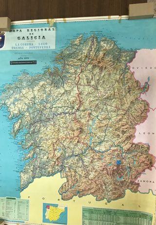 Mapa GALICIA 1976 91 x 110
