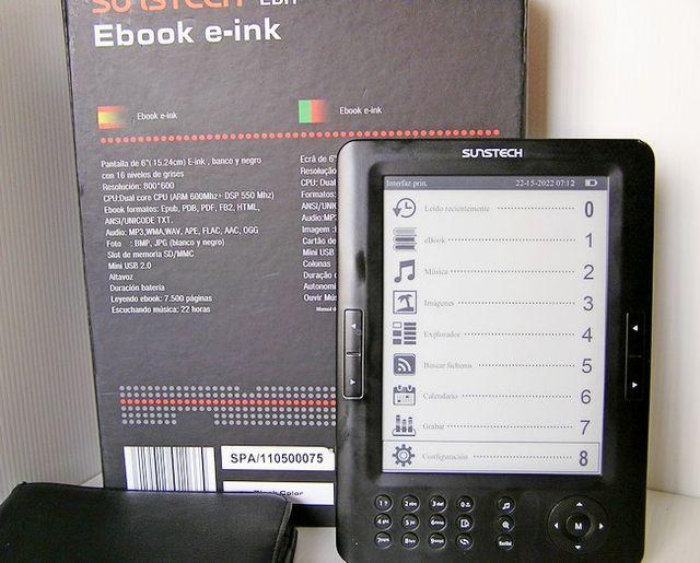 Lector de libros E-BooK Musica, fotos, grabadora,