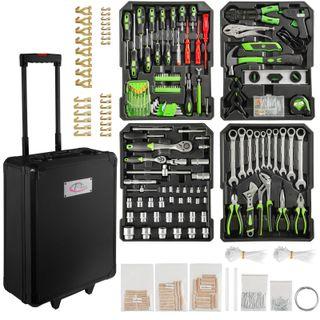 899 piezas maleta herramientas trolley aluminio