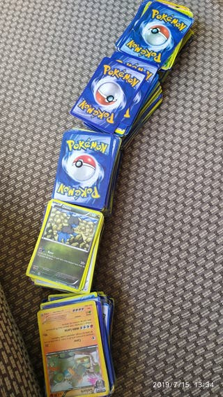 cartas pokemon 500 unidades