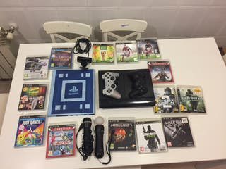 Playstation3 con juegos mandos y webcam