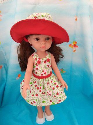 conjunto rojo para Paola Reina