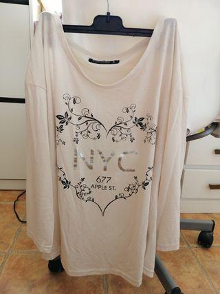 Camiseta de mujer, manga larga, talla S.