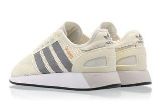 zapatillas deportivas Adidas malla crema y beige