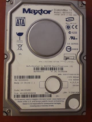 3 disco duro x 160gb 3 euros