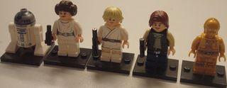 Compatible con Lego STAR WARS R2-D2, C-3PO, Leia,