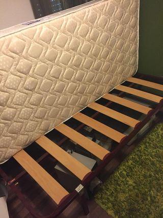 colchón flex y sommier de laminas (sin uso)