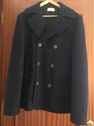 abrigo de hombre de lana y polyester
