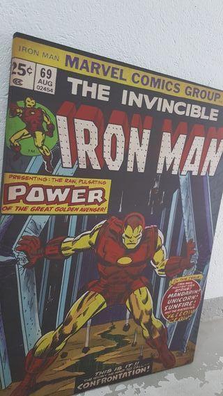 cuadro grande comic iron man