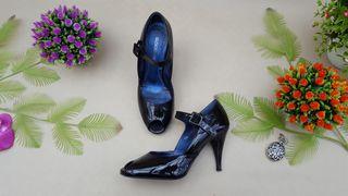Gloria Ortiz zapato piel charol negro Talla 38