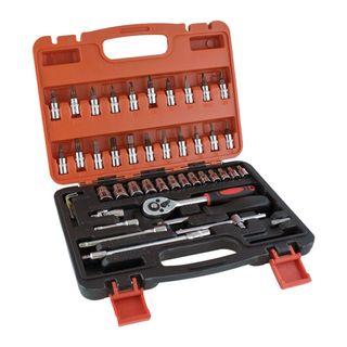 Maletin de herramientas 46 pcs llaves vaso puntas