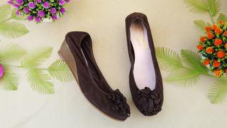 Bisue Ballarinas zapato piel tacón Talla 40
