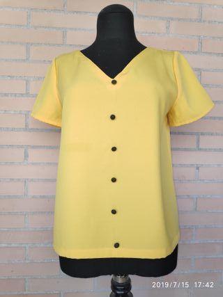 blusa escote reversible hecha a mano