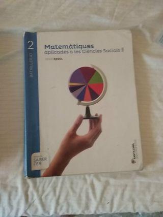 libro de matemáticas sociales 2ndo de bachillerato