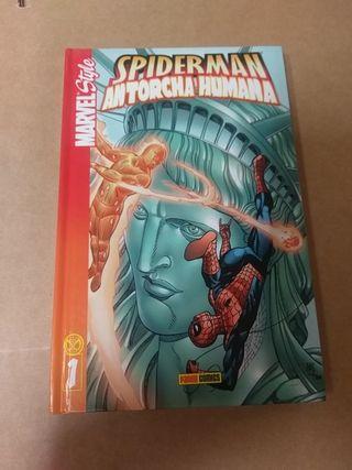 Spiderman y la antorcha humana