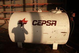 Deposito gasoil metalico con Bomba