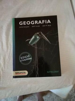 libro de geografía, segundo de bachillerato