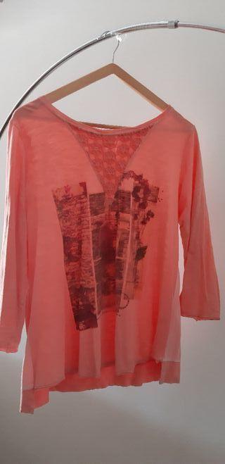 Camiseta manga larga color Salmon