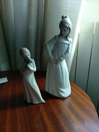 Figuras niñas de porcelana