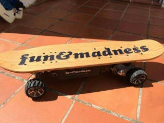 Monopatín Skate Eléctrico Fun and Madness c/ mando