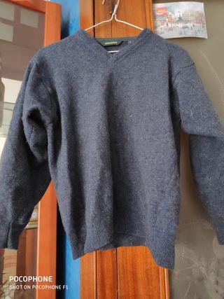 Abrigo lana Azul