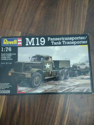 Maqueta M19 transporte de tanques 1/76 revell